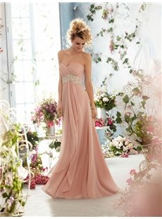 140.59 Beformal.com.au SUPPLIES Hot Selling A-line/Princess Sweetheart Sleeveless Beading Floor-length Pink  Formal Dress