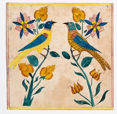 Islamic Art Pattern, Pattern Art, Vintage Bird Illustration, Folk Art Flowers, Animal Sculptures, Art Club, Bird Art, Lovers Art, Painting & Drawing