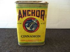 Rare Vintage Spice Tins   Details about Vintage Anchor Cinnamon Spice Tin~Rare Old -not all tin