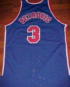 2751a1224e4 ... Hardwood Classics Swingman Jersey Drazen Petrovic 3 New Jersey Nets NBA  Mitchell Ness 1992-93 Classic Blue Jersey ...