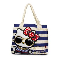 Hello Kitty Nautical Tote With Glasses - Bags - Hello Kitty - Brands Hello  Kitty Handbags d586c97c91988