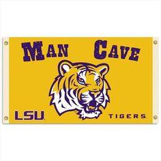 LSU Tigers Man Cave Flag