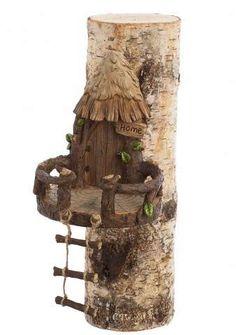 "New Creative 7.25"" Woodland Fairy House Tree Décor - Multi Color - Evergreen Enterprises"