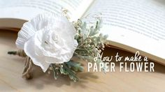 How to make an elegant realistic paper flower. I hope this tutorial helps you to make something beautiful! Paper Flowers Diy, Diy Paper, Paper Crafts, Wedding Ties, Wedding Bouquets, Something Beautiful, Easy Diy, Simple Diy, Wedding Inspiration