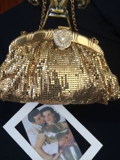 Vintage Whiting And Davis Mesh Purse From The Estate Of Jane Russell #WhitingandDavis #EveningBag