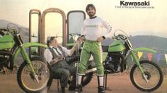 1979- Kawasaki KX Ad featuring Brad Lackey