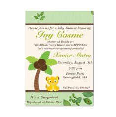 Baby Simba Inspired Invitation  Baby Shower by MyFashionLoveParty