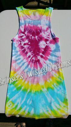 Men's- XL- Tank Top- Tie Dye- Undershirt- Adult- Unisex- Sleeveless Shirt- X-Large- Kaleidoscope- Concert Wear- Hippie- Boho- Rainbow Gift by BrinserTwistedDreams on Etsy