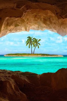 An old Indian cave located on a remote Turks and Caicos Island ~ in the Caribbean Sea