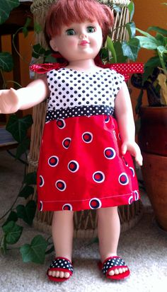 American Girl doll dress and matching sandals