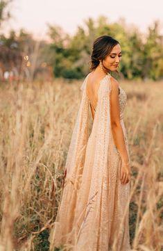 Gold and Crimson for a Fall Wedding #fallwedding #bridalcape #redwedding