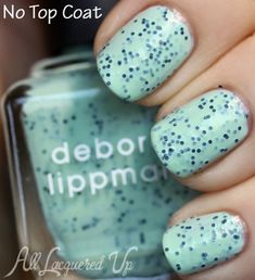 Deborah Lippmann Rockin Robin speckled nail polish swatch from the Stacatto collection