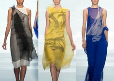 Vera Wang S/S 2014-Ethereal Beauty – Blurring and Distortion – Bleed and Watercolor Markings – Over-scaled Paint Brush Marks -Watery and Aquatic Movement – Pai...