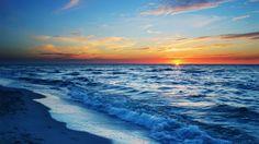 Terra/Natureza Ocean  Beach Sunset Wave Cloud Sky Nature Papel de Parede