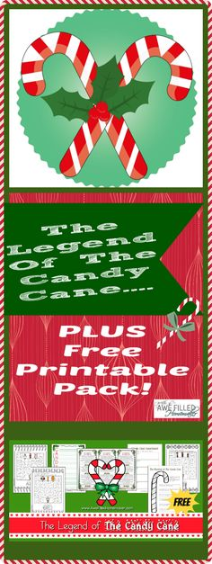 The legend of the candy cane (plus a free printable)