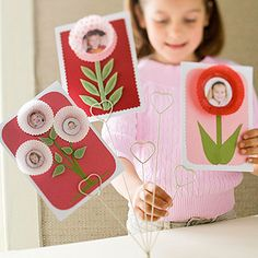 "This is a cute idea for a Mother's Day activity.  I would have my students create a larger version of these cards and include a creative writing topic and a title for a Mother's Day bulletin board display such as:  ""My Mother is Blooming Great!"""