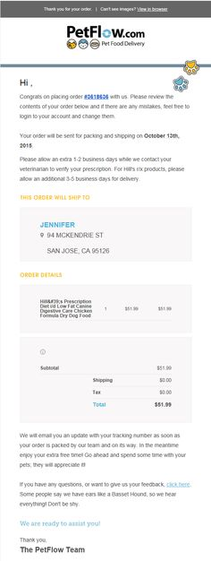 Order confirmation email from Ticketmaster Order confirmation - sending invoices by email