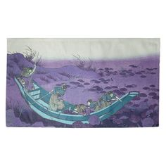 Just a tad too dreary for a child's bedroom Padded Wall, Blue Boat, Purple Area Rugs, Fabric Rug, Dobby, Wall Tapestry, Vivid Colors, Original Artwork, Lily
