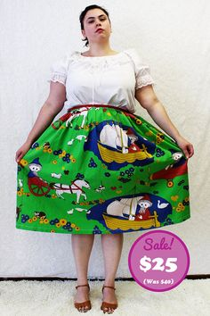CLEARANCE  Plus Size  Modern Vintage Kitsch Gnome by TheCurvyElle, $25.00