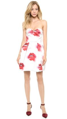 Wow!!! Wish this one was in my budget!! MSGM Strapless Lips Dress - Shopbop