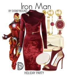 """""""Iron Man"""" by leslieakay ❤ liked on Polyvore featuring Anne Klein, BERRICLE, INC International Concepts, Agent Provocateur, Jimmy Choo, disney, marvel, disneybound, disneycharacter and holidaystyle"""