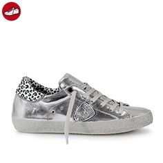 PHILIPPE MODEL DAMEN SNEAKER PARIS SILBER GLITZER (*Partner-Link)
