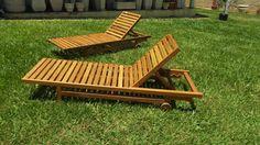 Cadeira Espreguiçadeira De Madeira De Demolição - R$ 990,00 no MercadoLivre
