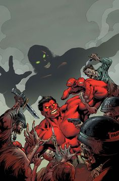 Red Hulk vs Nazi Zombies