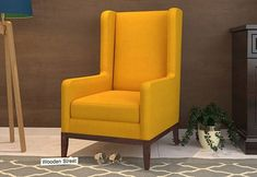 Joan Wingback Chair (Yellow Blush) Swivel Rocker Recliner Chair, Wingback Chair, Armchair, Restoration Hardware Chair, Accent Chairs Under 100, Outdoor Tables And Chairs, Wayfair Living Room Chairs, Wing Chair, Upholstered Chairs