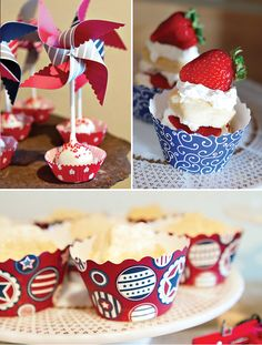 'deconstructed' strawberry shortcake ... looks easy, fun and yummy! Great bday or summer party idea.