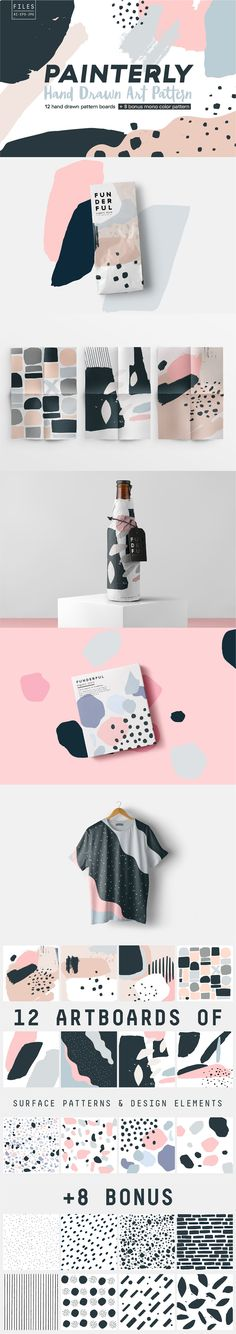 Painterly Pattern Pack by funderful on @creativemarket