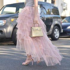 New Arrival Skirt, Street Style Skirt,Tulle Skirt,Fashion Women Skirt,Spring Aut. Jupe Tulle Rose, White Tulle Skirt, Tulle Dress, Tulle Lace, Ruffle Skirt, Fall Skirts, Long Maxi Skirts, Tutu Skirts, Street Style Rock