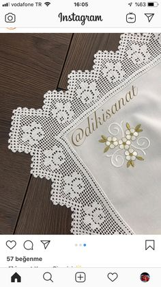Crochet Boarders, Cross Stitch Flowers, Embroidery, Handmade, Decor, Basket Weave Crochet, Beautiful Crochet, Vintage Crochet, Crochet Edging Patterns