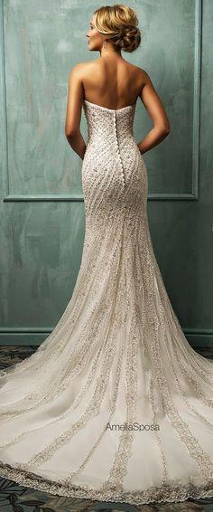 amelia sposa vintage sequins mermaid long wedding dresses http://www.jexshop.com/