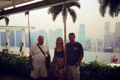 💕Singapore infinity pool on top of the world with Trevor Tania and Scott Marina Bay Sands Hotel