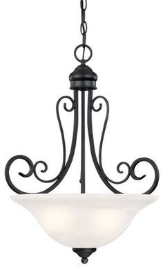 Hardware House 544890 Tuscany 18-1/2-Inch by 23-Inch Chandelier Textured Black for $70.75