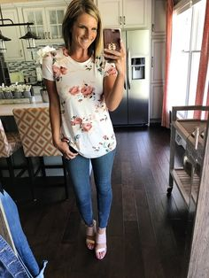 #ssCollective #ShopStyleCollective #mylook #springstyle  Floral Tee [Perfect For Summer!] Casual Cute Outfit For a Day Out on the Town