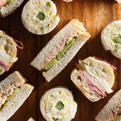 Rolled Egg Salad Sandwiches
