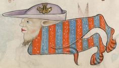 Detail from The Luttrell Psalter, British Library Add MS 42130 (medieval manuscript,1325-1340), f67v