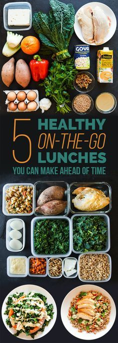 Here's Exactly How To Meal Prep For Lunch This Week.... Good meal ideas with changing a couple things .