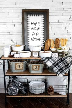 Soup is Meant to Be Shared! Host a warm and cozy soup party with our easy tips, recipes + free printable designs! Check out all of the details on the blog: http://www.thetomkatstudio.com/2016/11/soupparty  Styled by The TomKat Studio  Sponsored by Garden Fresh Gourmet