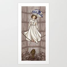 Leia's Corruptible Mortal State Art Print by Karen Hallion Illustrations - $16.99