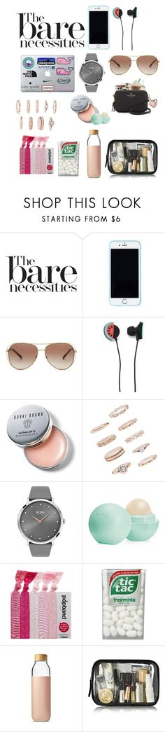 """""""the bare nesseccities"""" by hhaileyyyy ❤ liked on Polyvore featuring beauty, Lilly Pulitzer, Michael Kors, Forever 21, Bobbi Brown Cosmetics, BOSS Black, Eos and Soma"""