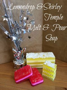This week we've created a Lemondrop inspired Melt & Pour Soap as well as a kid friendly Shirley Temple inspired Melt & Pour Soap! Check out both tutorials here: http://www.otionsoap.com/lemondrop-shirley-temple-mp/ You can currently see and smell these beautiful soaps here at Otion. We would love to know what you think!