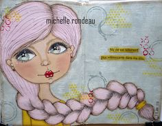 Wood And Fabric: Mes plus récentes pages d'art journal