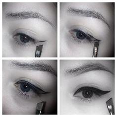 Eyeliner Pic tutorial using mac fluidline in black track <3  #Makeup #mua #Eyeliner