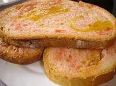 Pan con tomate.Cataluña.