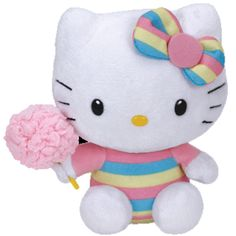TY Beanie Baby - HELLO KITTY (Cotton Candy - 6 inch)