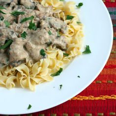A thoroughly delicious Slow Cooker Beef Stroganoff! Easy and fuss-free, this is a guaranteed family favorite!