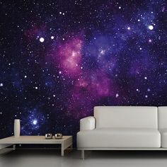 Prepare to transform a regular wall into a massive window on the universe! This fleece wall mural depicts a beautiful galaxy that will add cosmic whimsy to any room.